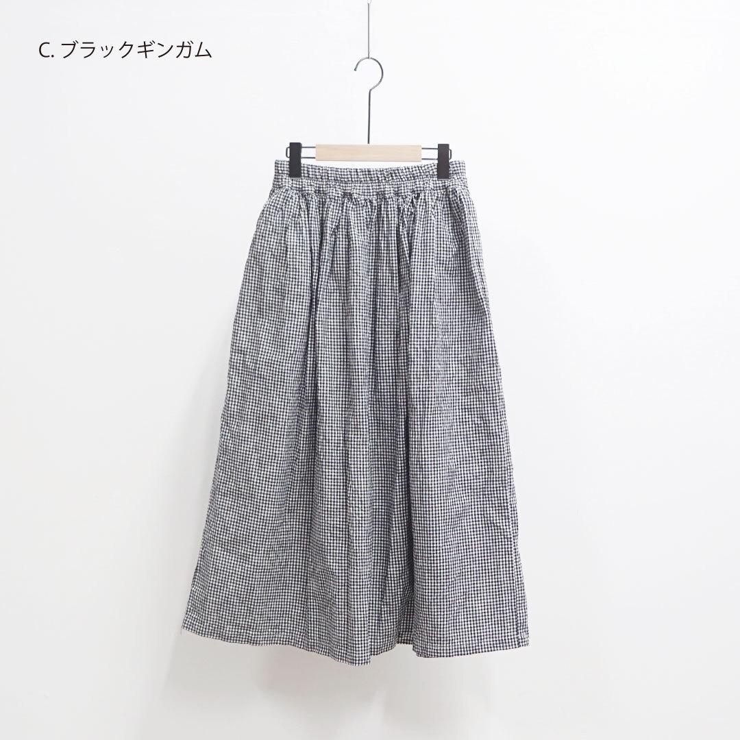 ichi イチ ギンガムチェックスカート (品番200106)