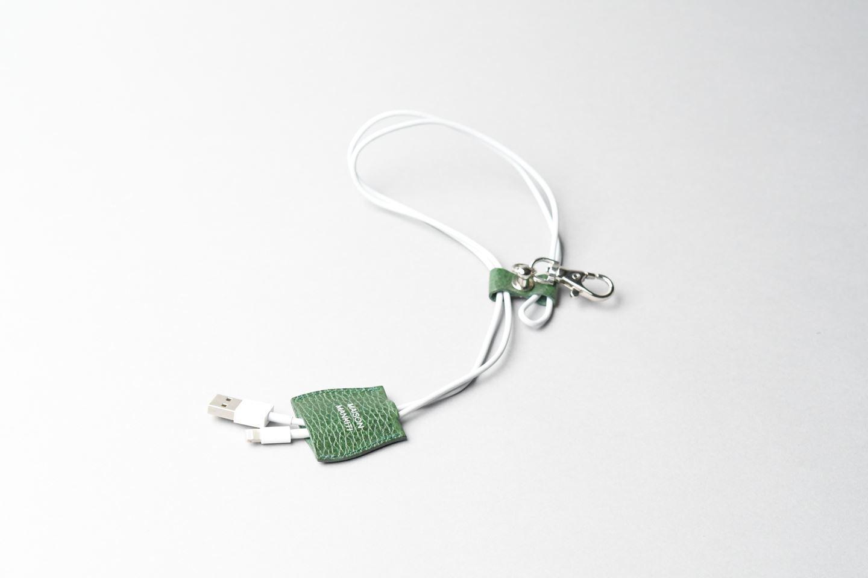 i phone ケーブルホルダー □ホワイト□ cable holder  - 画像5