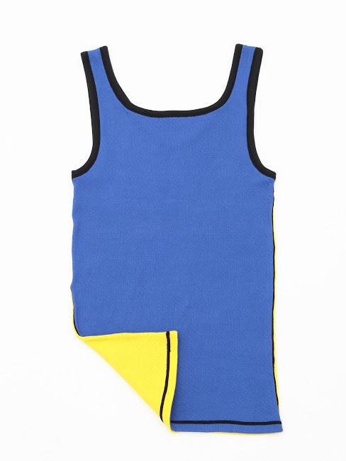タンクトップ [T-03] 青×黄
