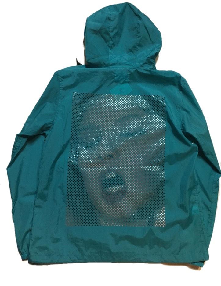 SKIN / nylon hoodie(blue) - 画像3