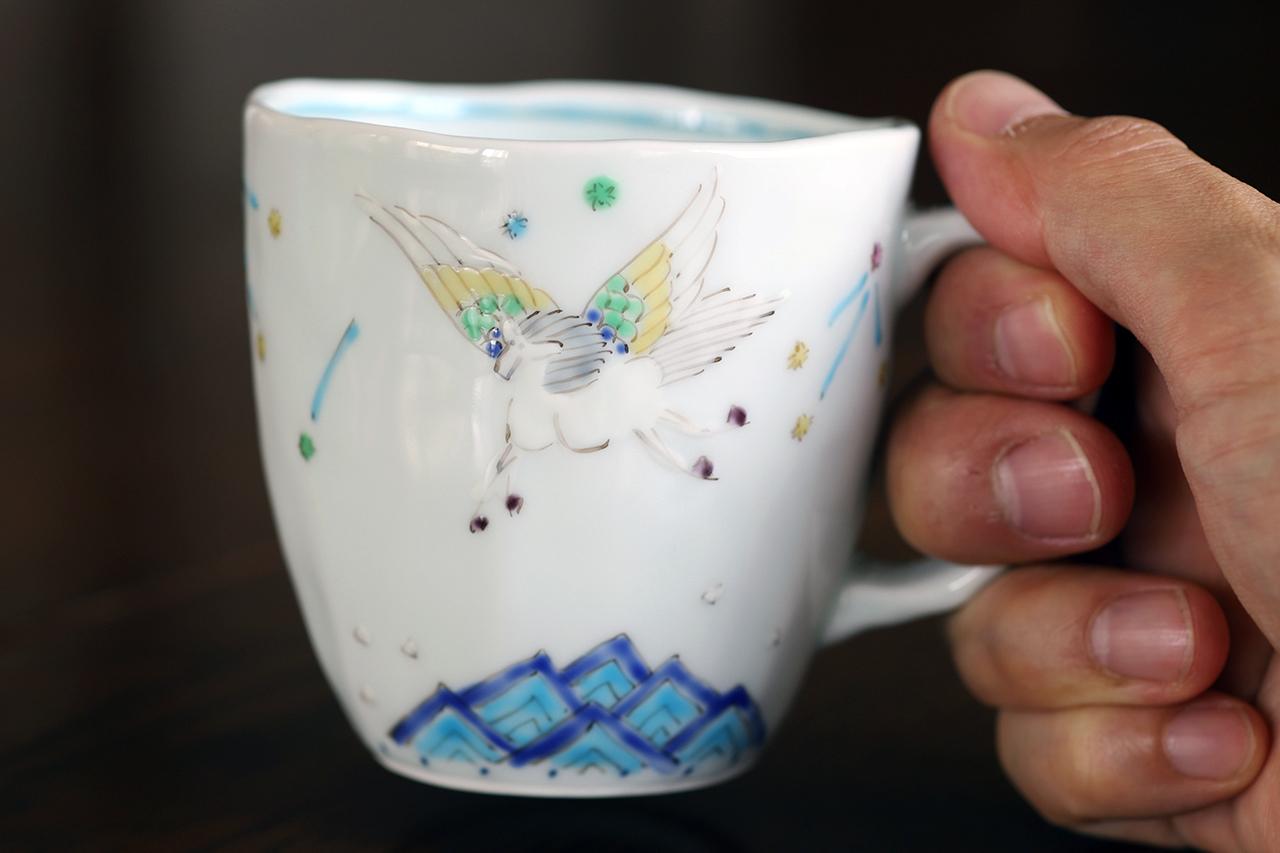 藍水 ペガサス マグカップ(大) うつわ藍水 波佐見焼