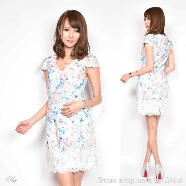 SALE (Sサイズ) ミニドレス  ビジュー刺繍 ドレス パーティー 二次会 0178