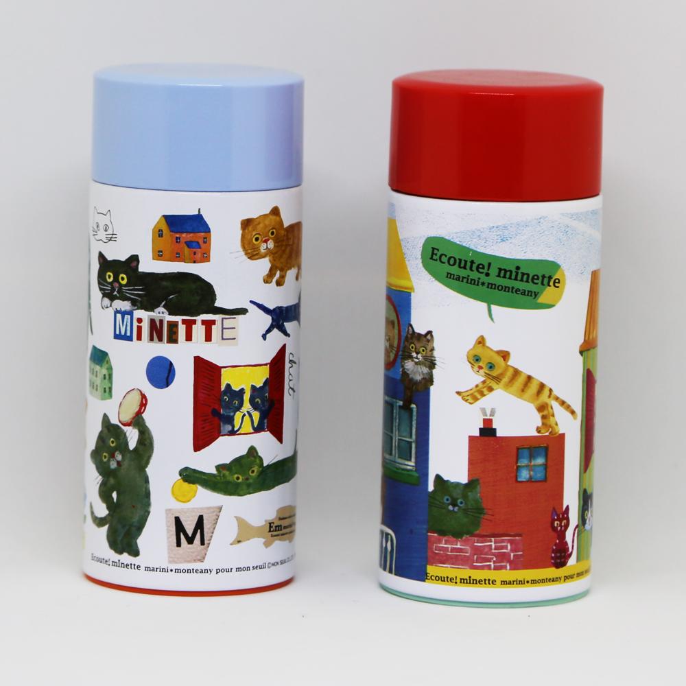 猫ボトル(エクートミネット軽量ステンレスマグボトル)全2種類