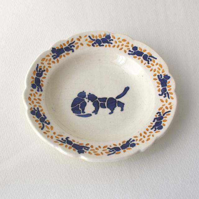 2匹猫・ままごとディナー皿a / aa0019