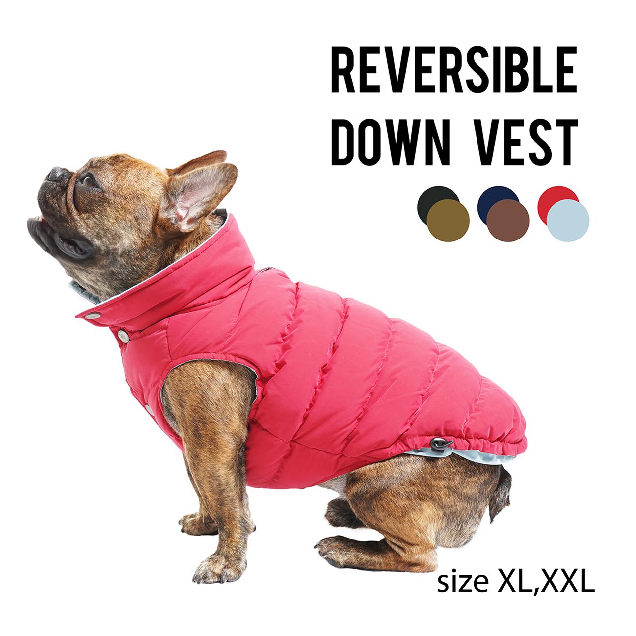 REVERSIBLE DOWN VEST(XL,XXL) リバーシブルダウンベスト