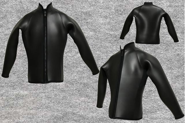 【フラットスキン】3x3mm長袖ジャケット立衿wsm1710FS(フルオーダー料込)
