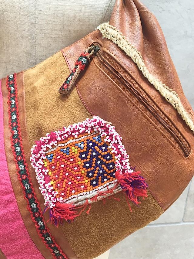 drm-100 アフガンビーズ刺繍ショルダーバッグ