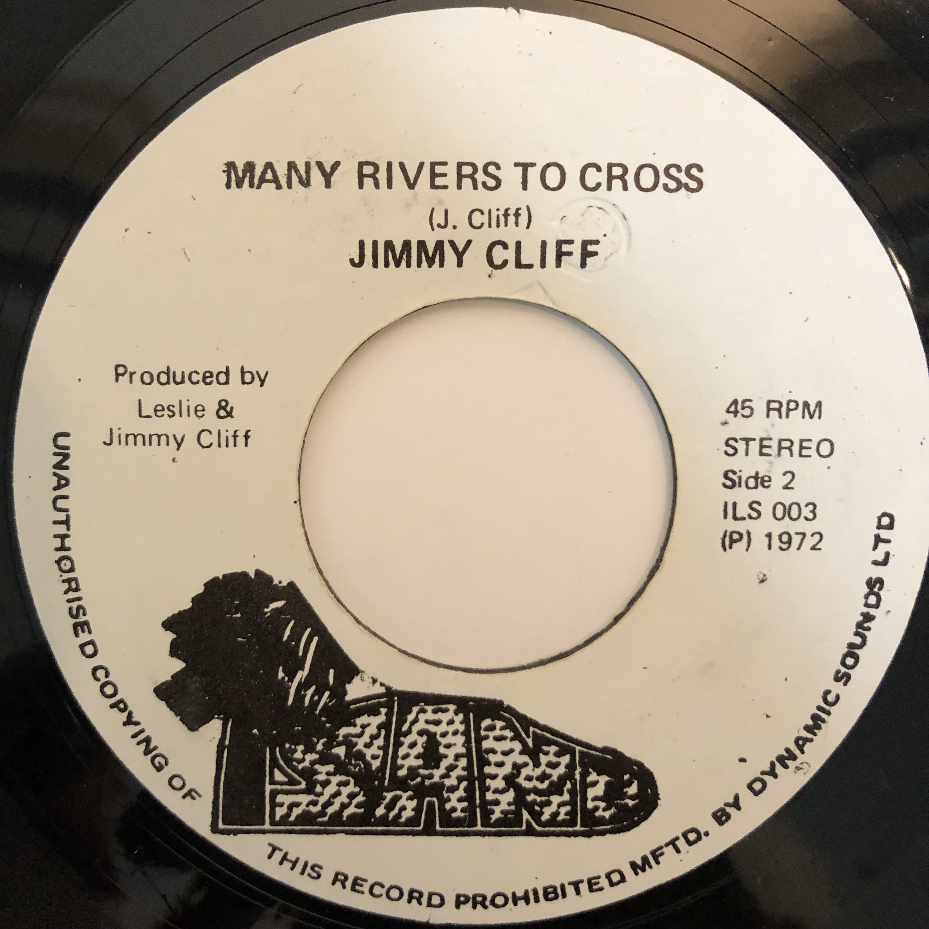 Jimmy Cliff(ジミークリフ) ‎- Many Rivers To Cross【7-20297】