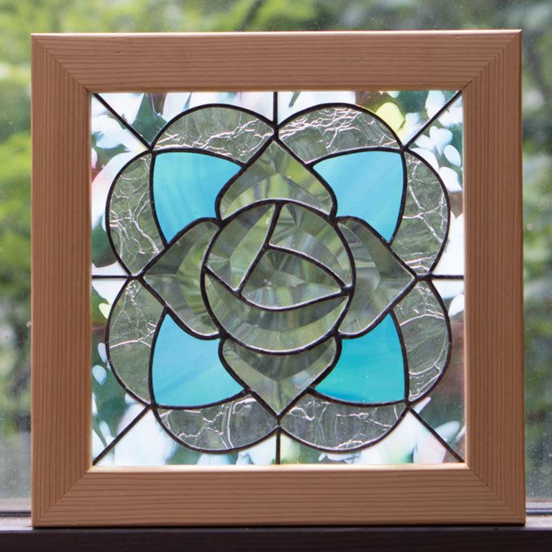 ローズクリスタル(ステングラスのアートパネル) 03050113