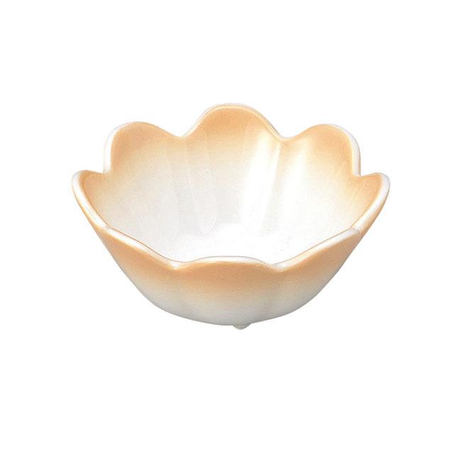 【2047-2740】菊割小付(口径8.8cm) ぼかしオレンジ