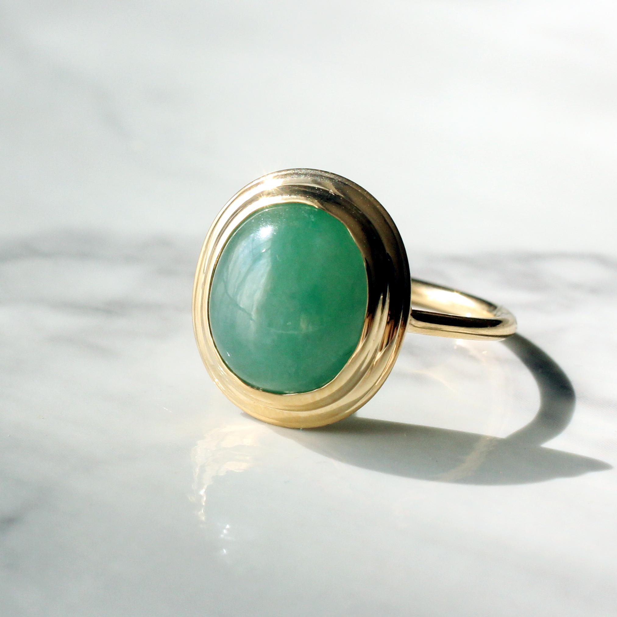 Jade ring  / K18YG