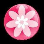 ゴーバッジ(ドーム)(CD0236 - FLOWER 01) - 画像1