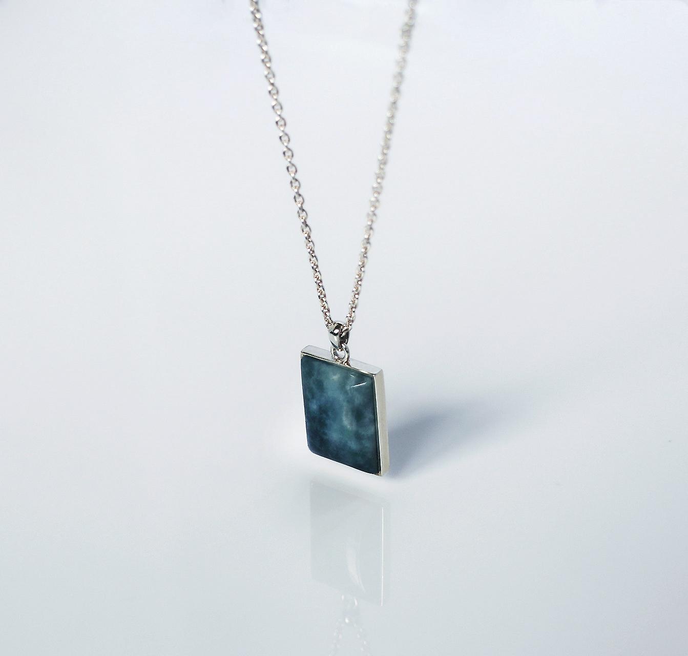 HISUI 'SHIKAKU'  / Necklace (Dark Green)