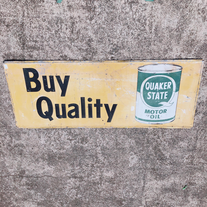 品番3059 サインボード 『QUAKER STATE(クエーカーステート)MOTOR OIL』 壁掛 大型看板 アメリカン雑貨 ヴィンテージ