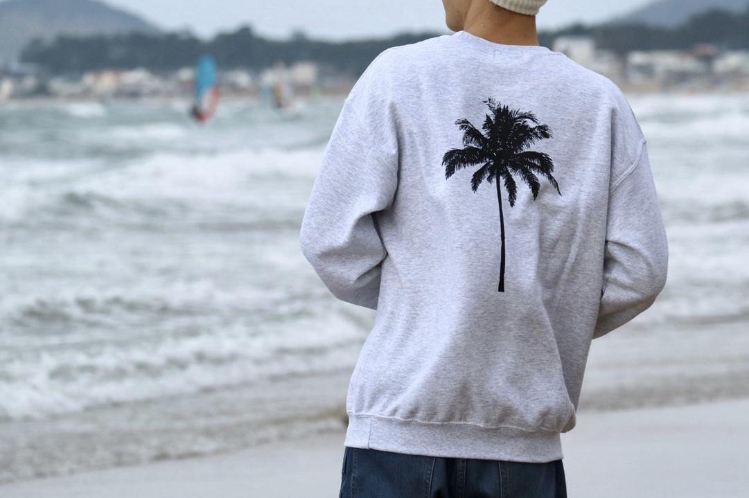 【1/15 21:00 販売開始】Palm tree SWEAT(gray)