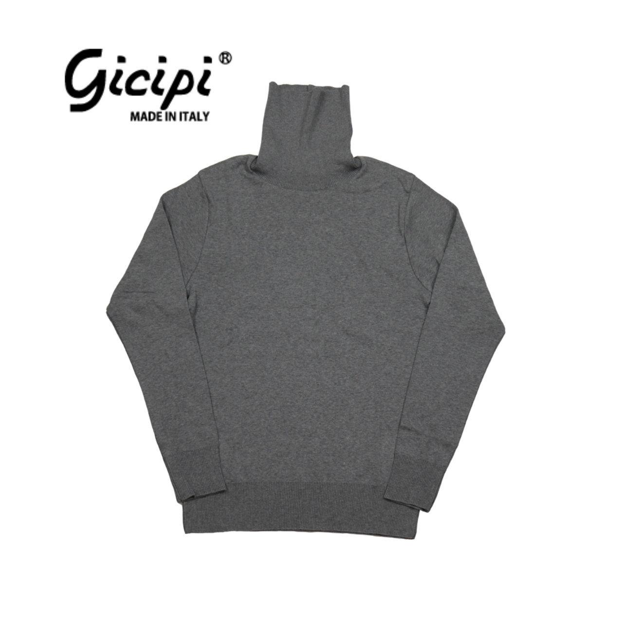 【gicipi】 タートルネック カットソー (Dolce Vita ML 1902 A) 〈Grey〉
