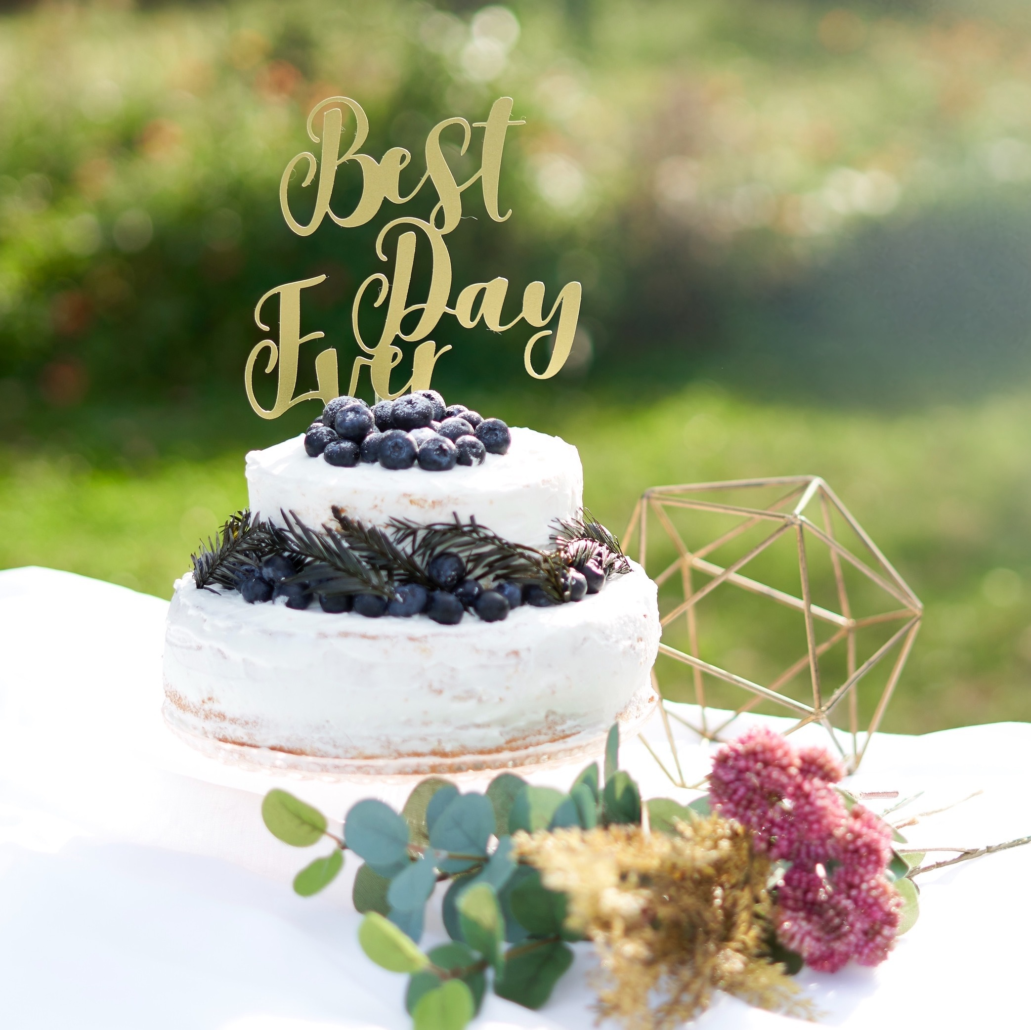 Best Day Ever ケーキトッパー 結婚式 ウエディング 飾り付け 誕生日