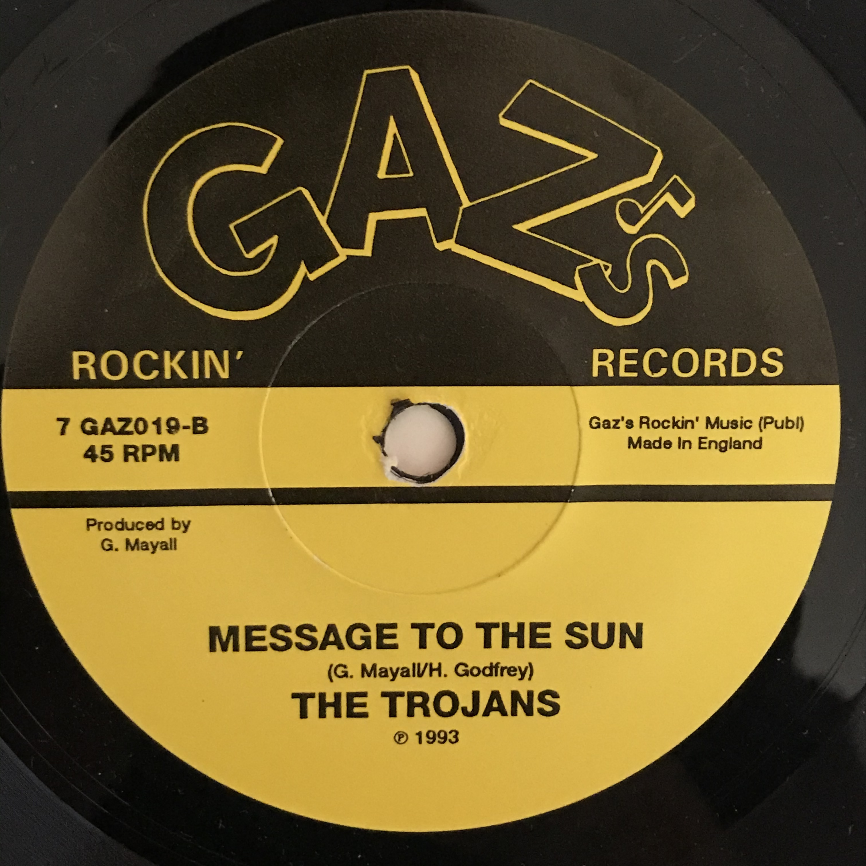 The Trojans - Can't Kill The Spirit - Message To The Sun【7-10875】