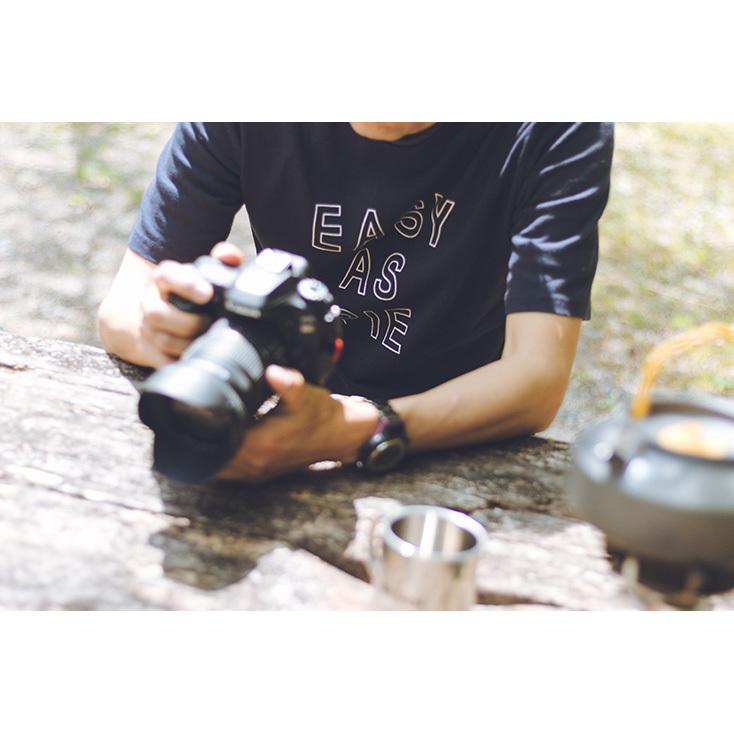 メンズロゴTシャツ ヘビーオンス(ネイビー×白M)