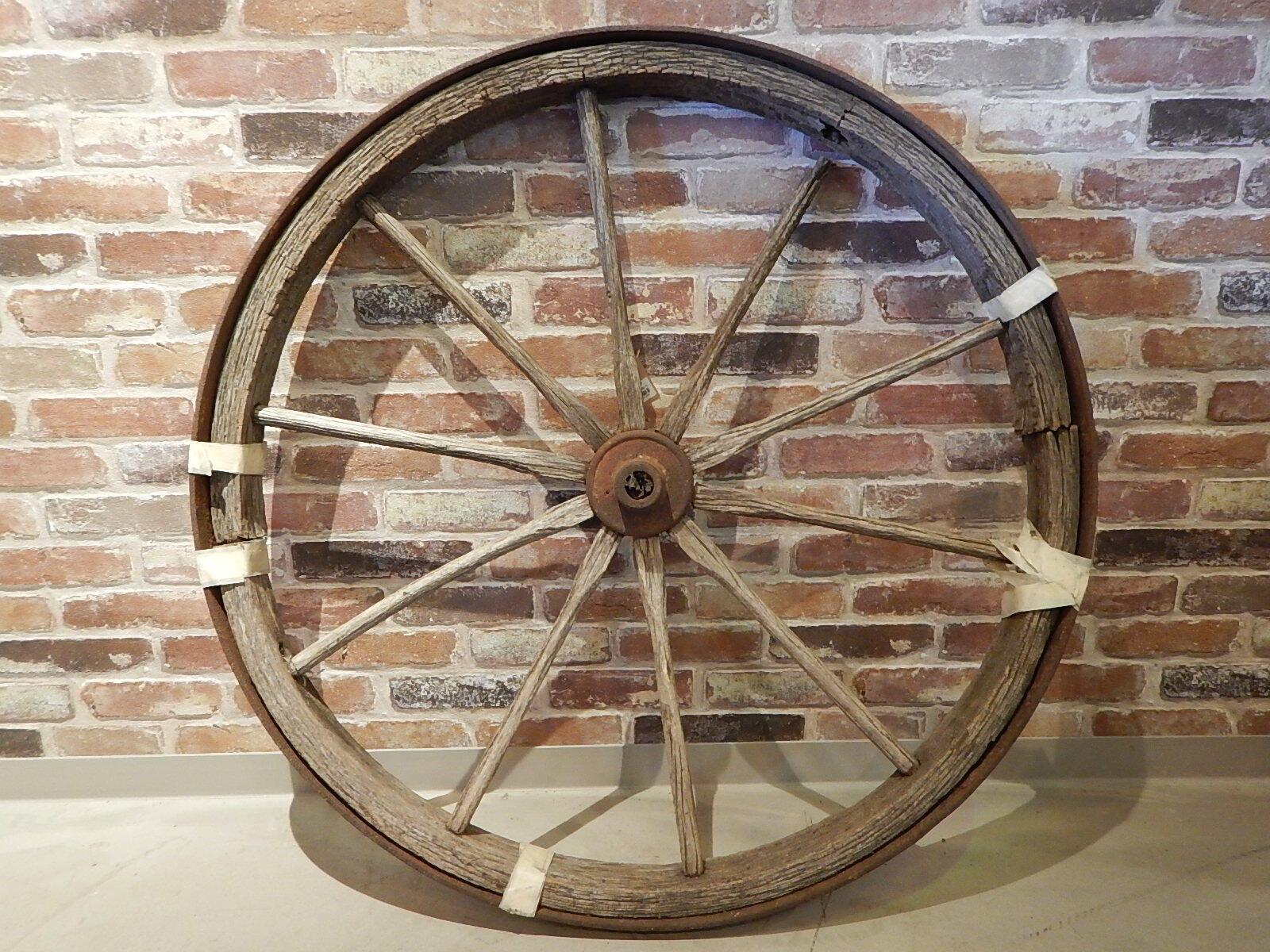 品番1164 ワゴンタイヤ 車輪 荷車 木製 ヴィンテージ 011