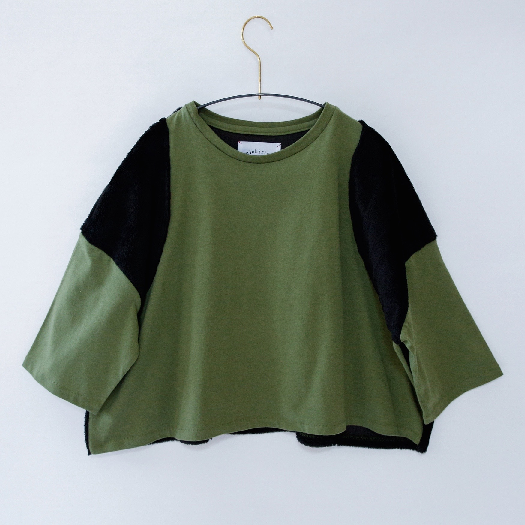 《michirico 2020AW》Boa tops / military green / S・M