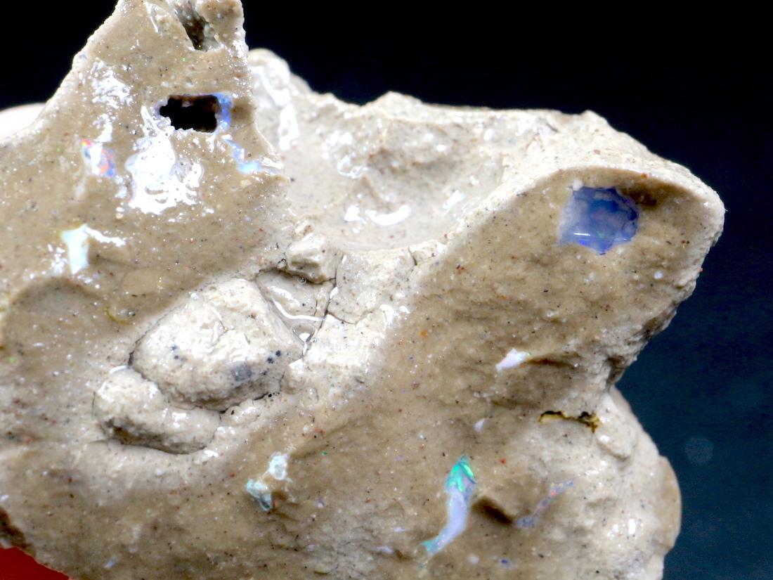 希少! カリフォルニア産 オパール 原石 鉱物 天然石 5,8g CAO048 パワーストーン