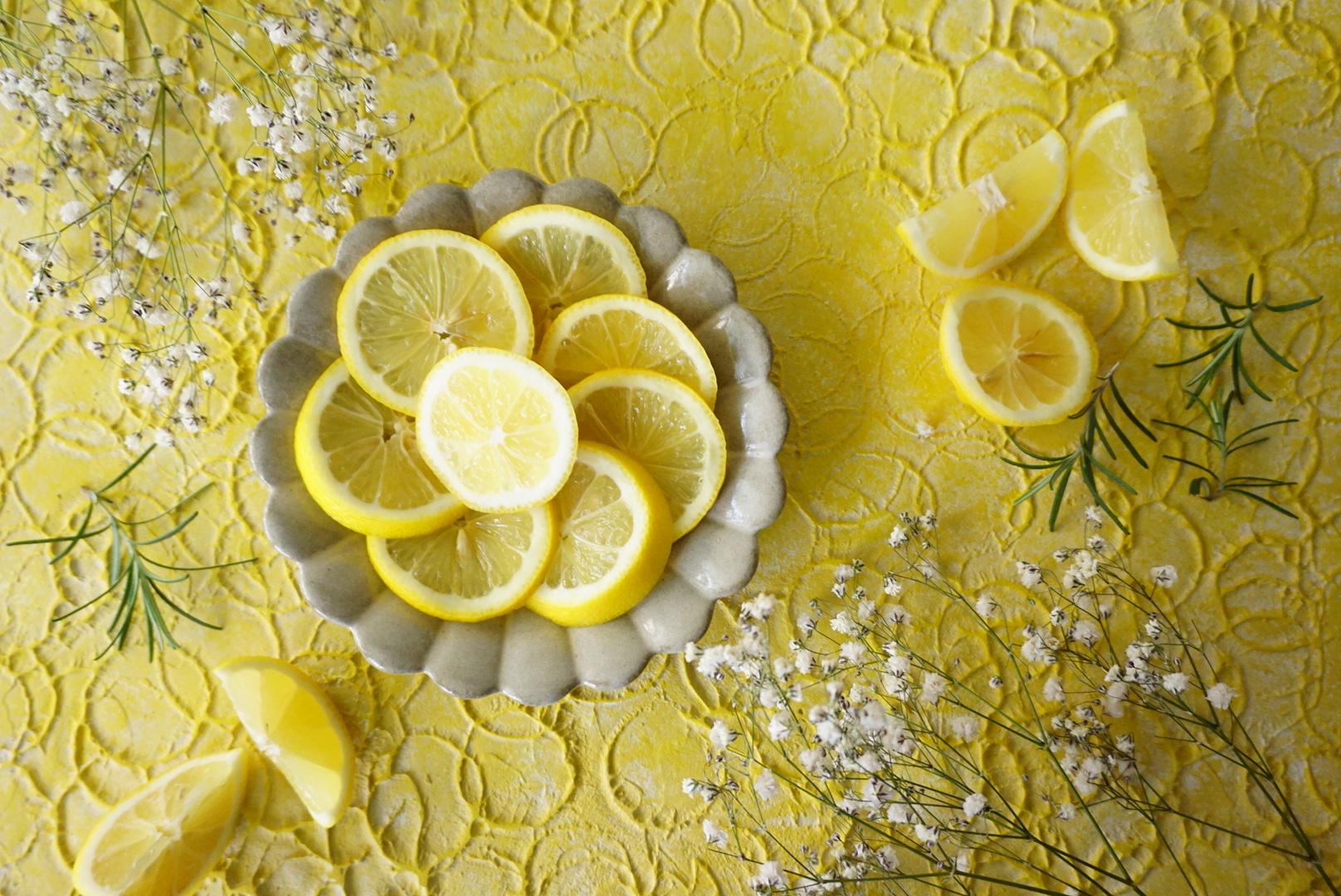 フレッシュレモネード45㎝ 北欧テキスタイル 漆喰系 黄色 写真撮影用 背景 スタイリングボード 大阪