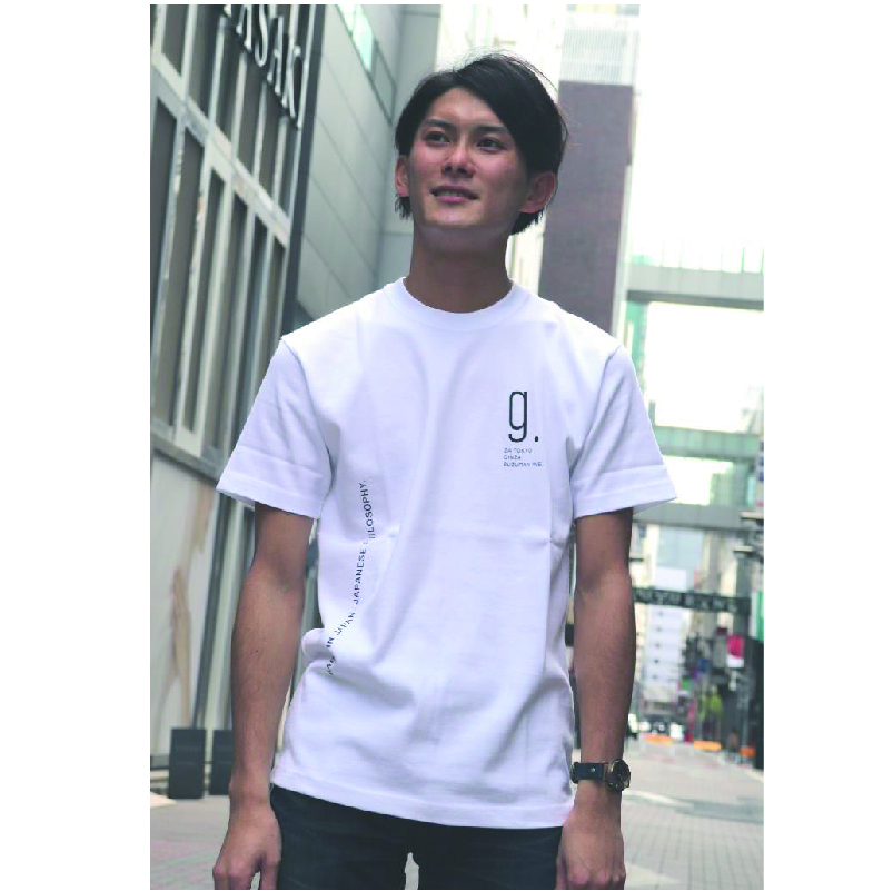 ZA TOKYO クルーネック  gプリントTシャツ Z102