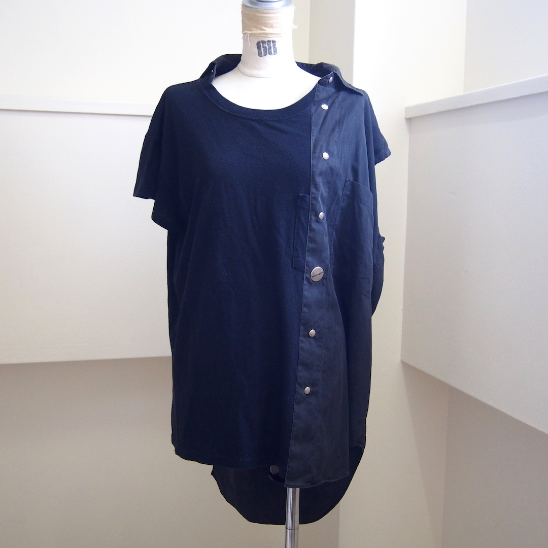 【sandglass】asymmetry T-shirt / 【サンドグラス】アインメトリーTシャツ