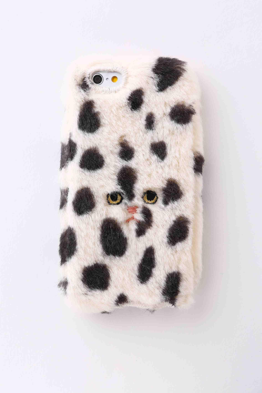 【iPhone6/6S専用】ドットネコiPhone6/6sカバー 【ホワイト】