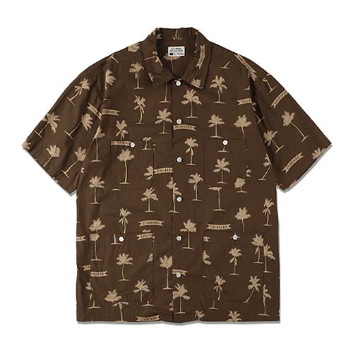 STANDARD CALIFORNIA #SD Palm Tree Shirt Fabric Designed By Jeff Canham Brown