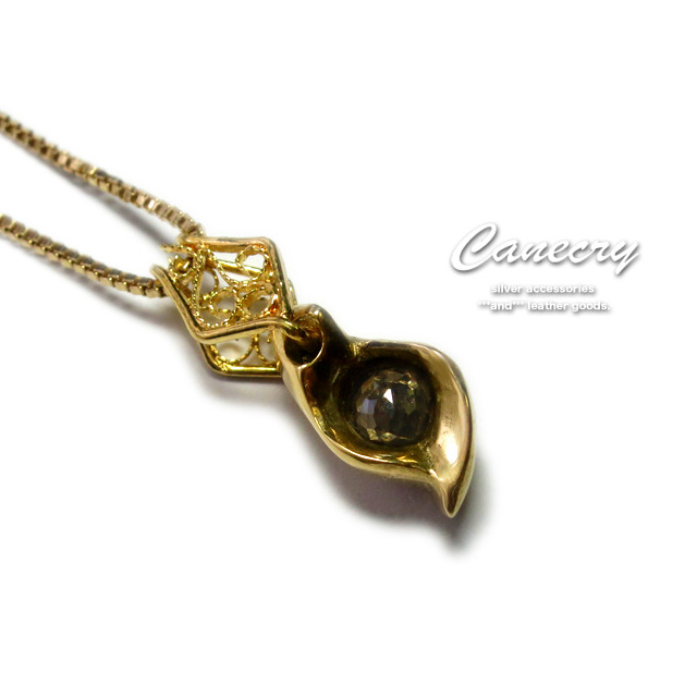 ブラウンダイヤモンドのゴールドネックレス
