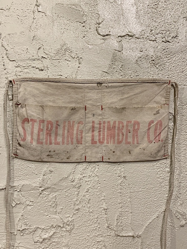 "WORK APRON  "" STERLIG LUMBER CO . """