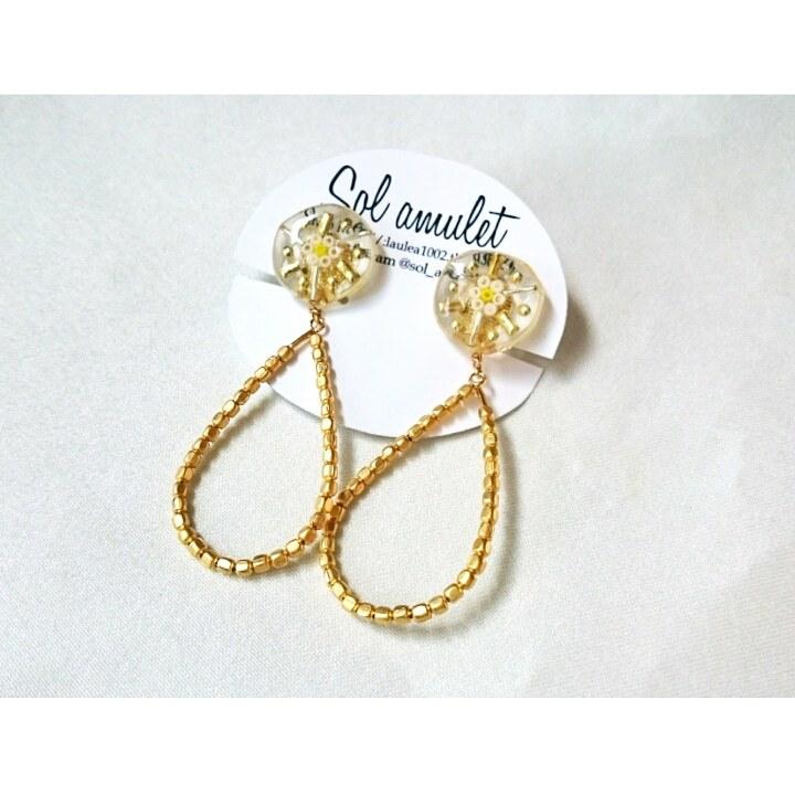 【ピアス/イヤリング】metal drop pierce/earring