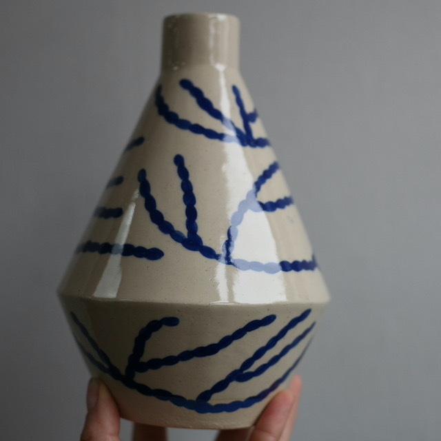 """Sophie Alda """"Coral Diamond Vase"""""""