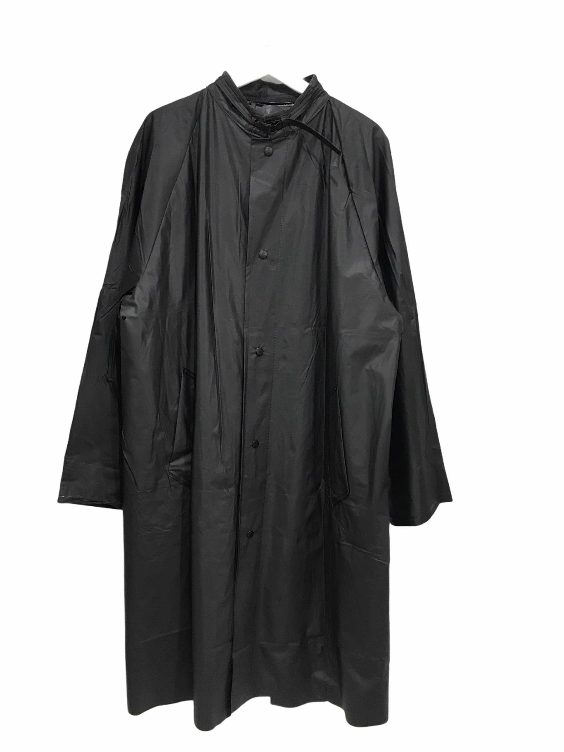 Dead Stock Swedish Army Black Rain Coat 50