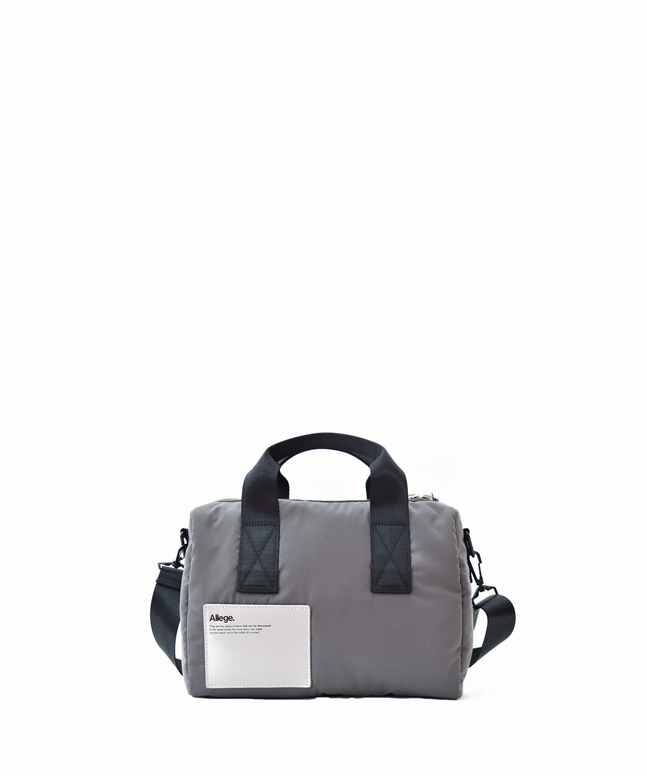 Allege × LORINZA Nylon Mini Boston - Gray