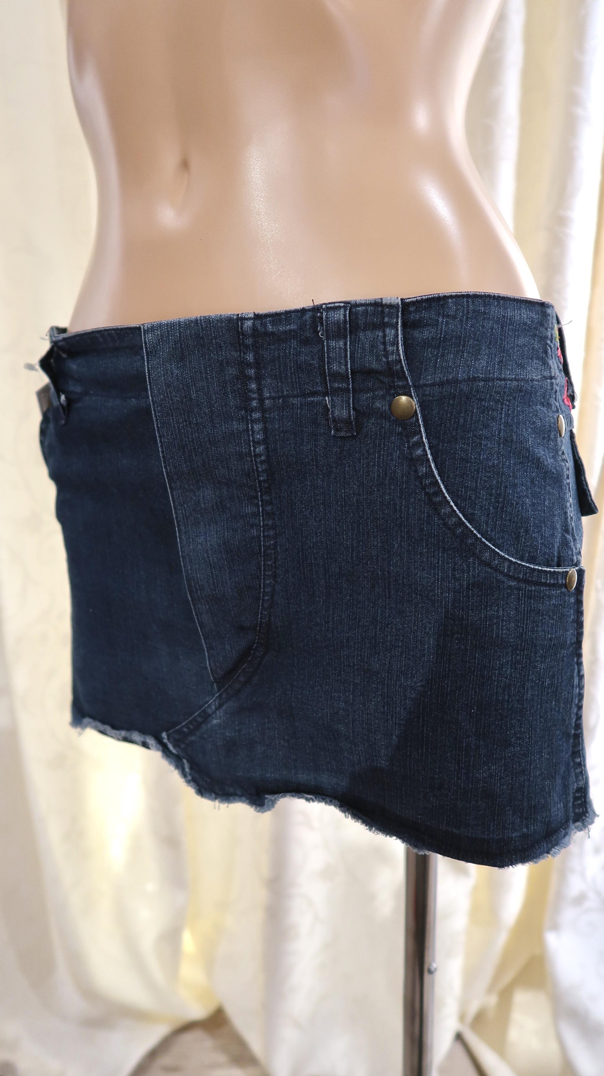 【30%OFFセール価格!】PIN-UP  Stars<ピンナップスターズ> 刺繍入りデニムショートスカート