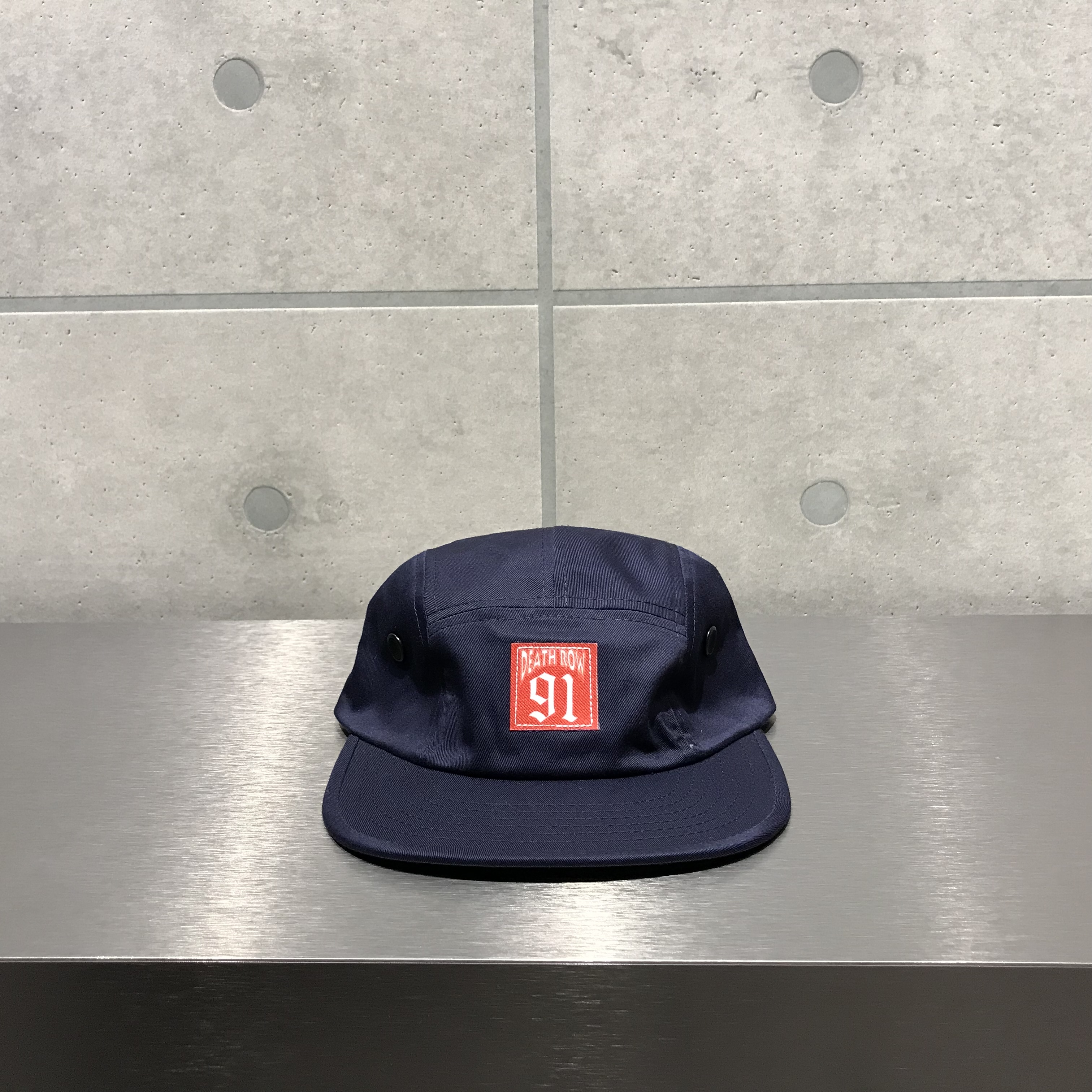 Death Row Records 5 PANEL HAT / NAVY