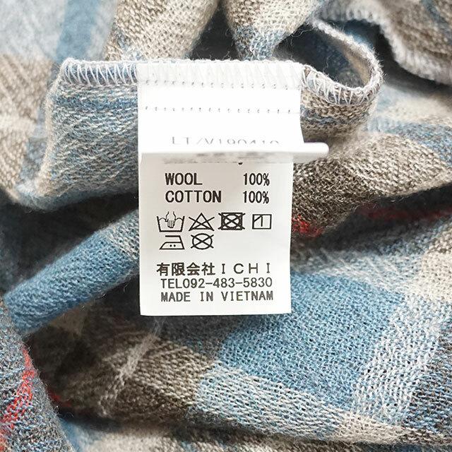 ichi イチ ウールガーゼチェックワンピース レディース ワンピース ロング チェック 長袖 ゆったり 通販 (品番190410)