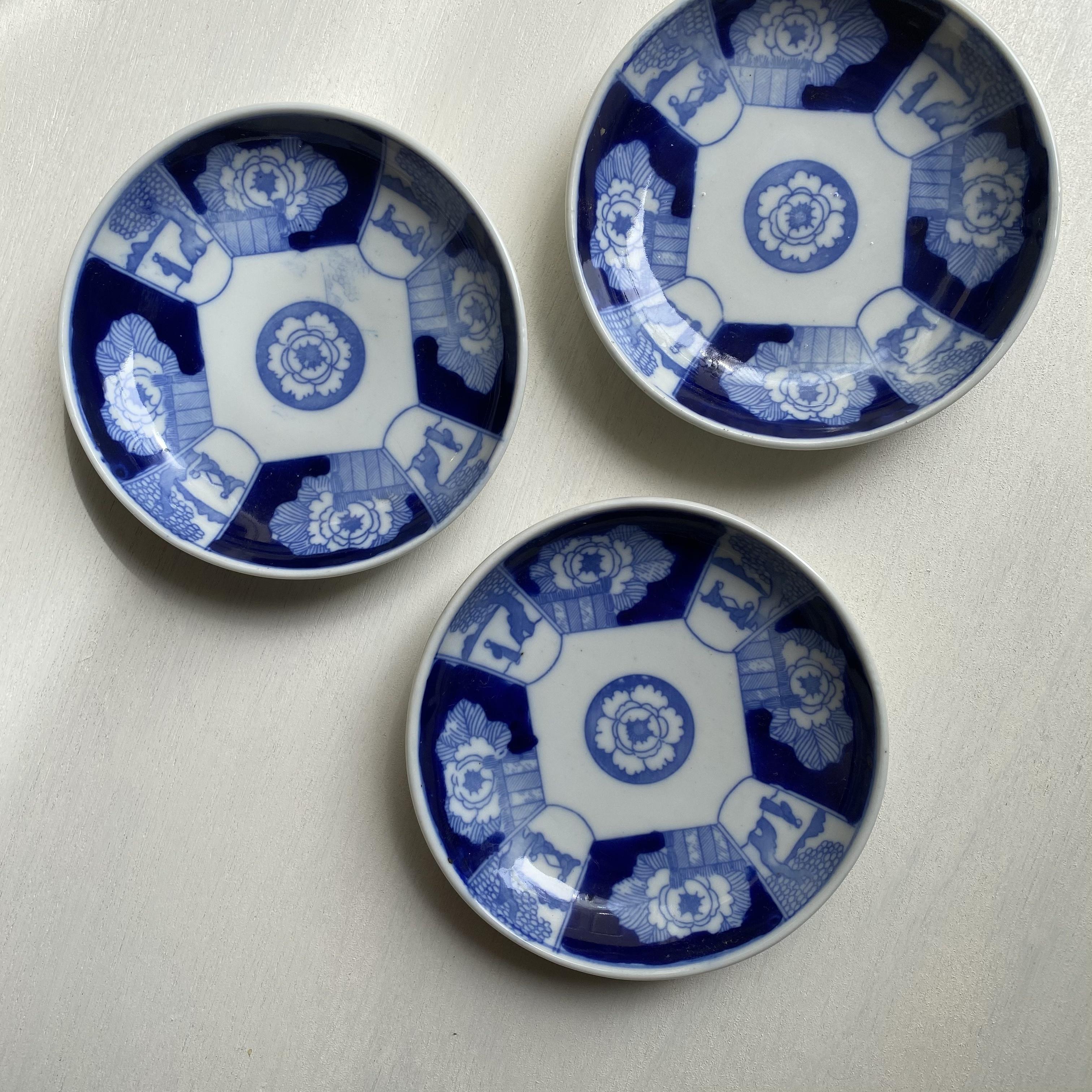 藍色の小皿3枚セット
