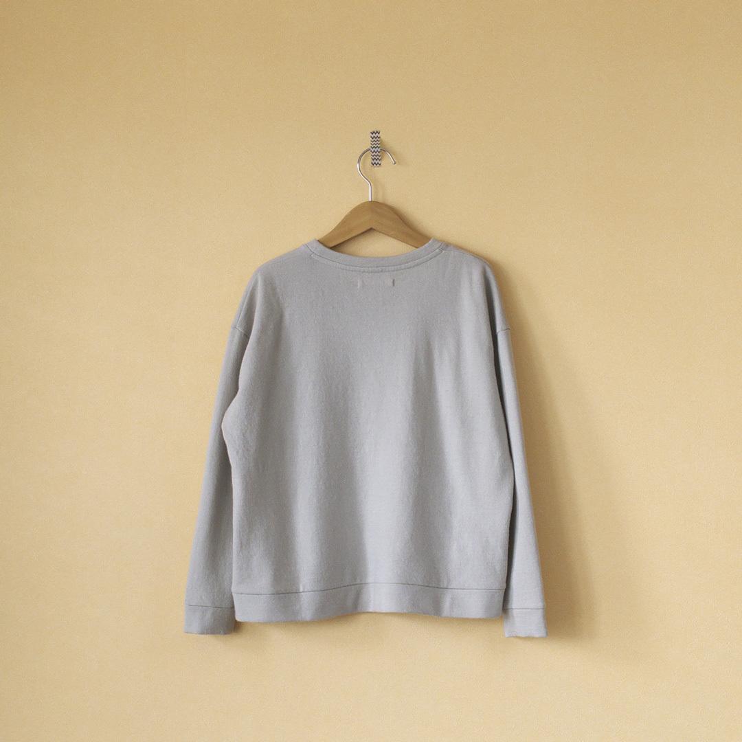 evam eva エヴァムエヴァ wool angora sweat pullover ウールアンゴラスウェットプルオーバー・アンティークホワイト