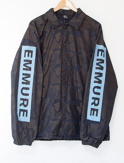 【EMMURE】Cult Circle High-Low Coach Jacket (Camo)