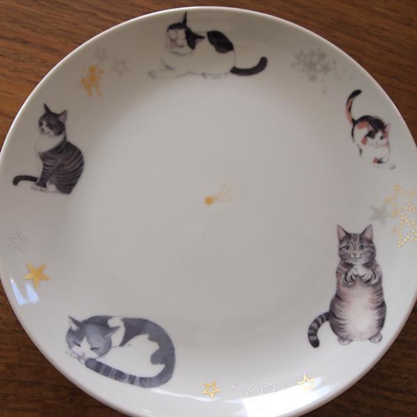猫のお皿 特大サイズ 24cm