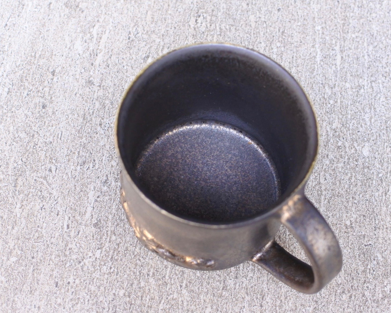うつわ うたたね/バロック紋マグカップ(にびいろ)
