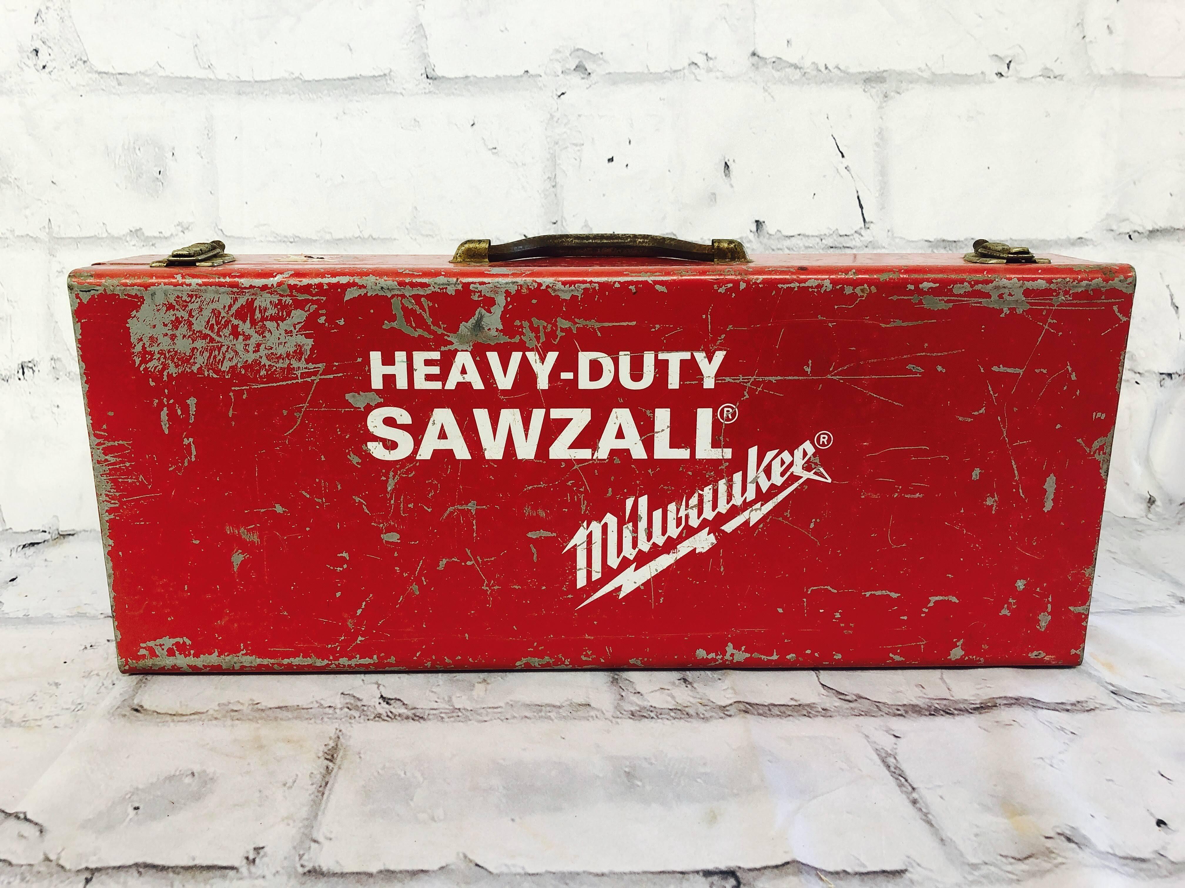 品番2222 工具箱 SAWZALL スチール製 ツールボックス レッド ヴィンテージ