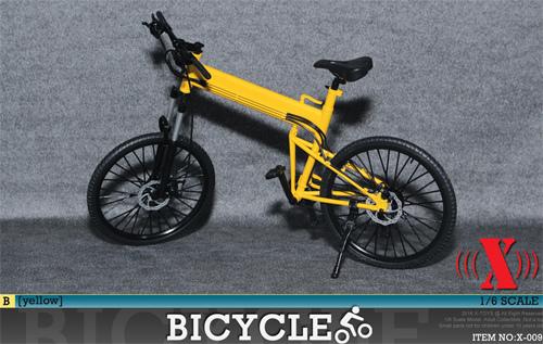 【03310】 1/6 X-TOYS 自転車 黄色