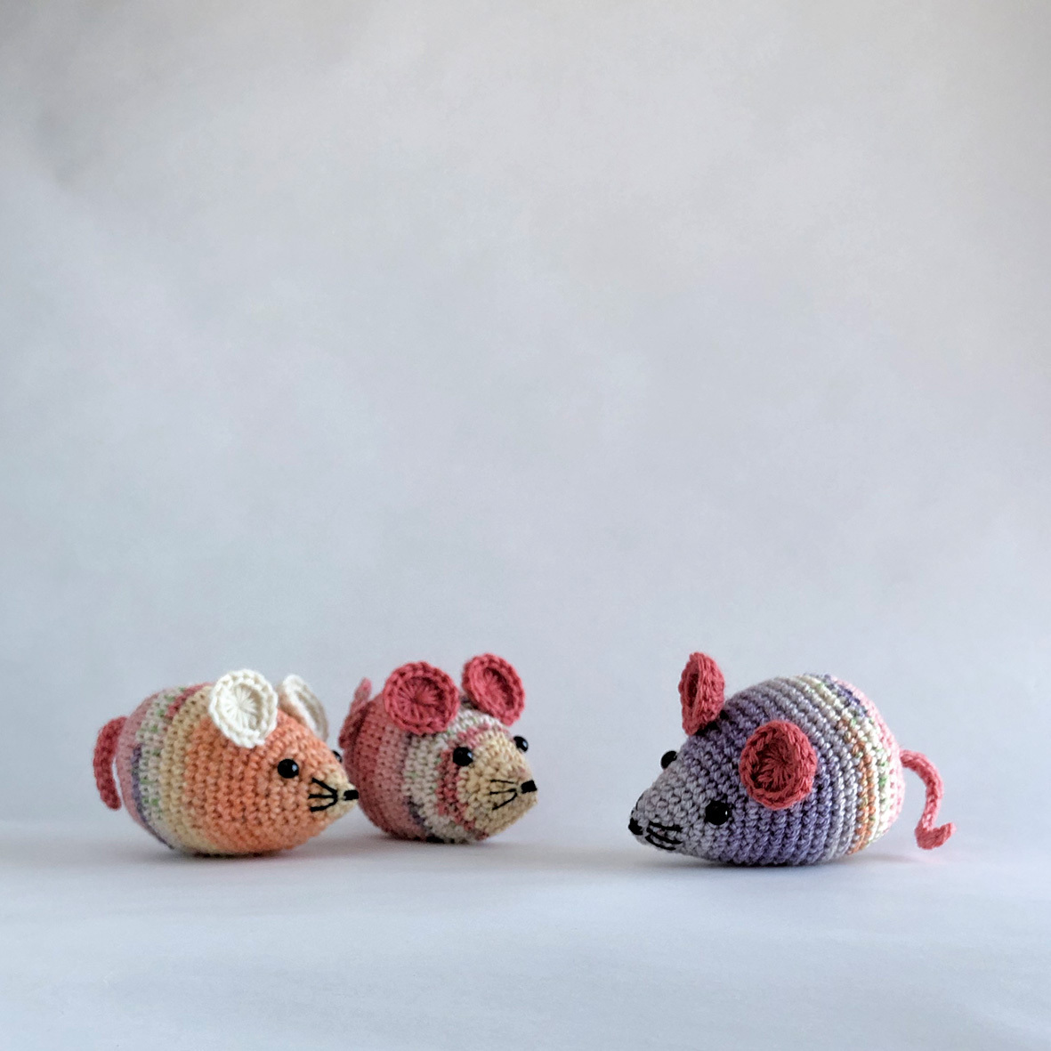 ✦編み図 郵送✦ かぎ針編み・ネズミのあみぐるみ