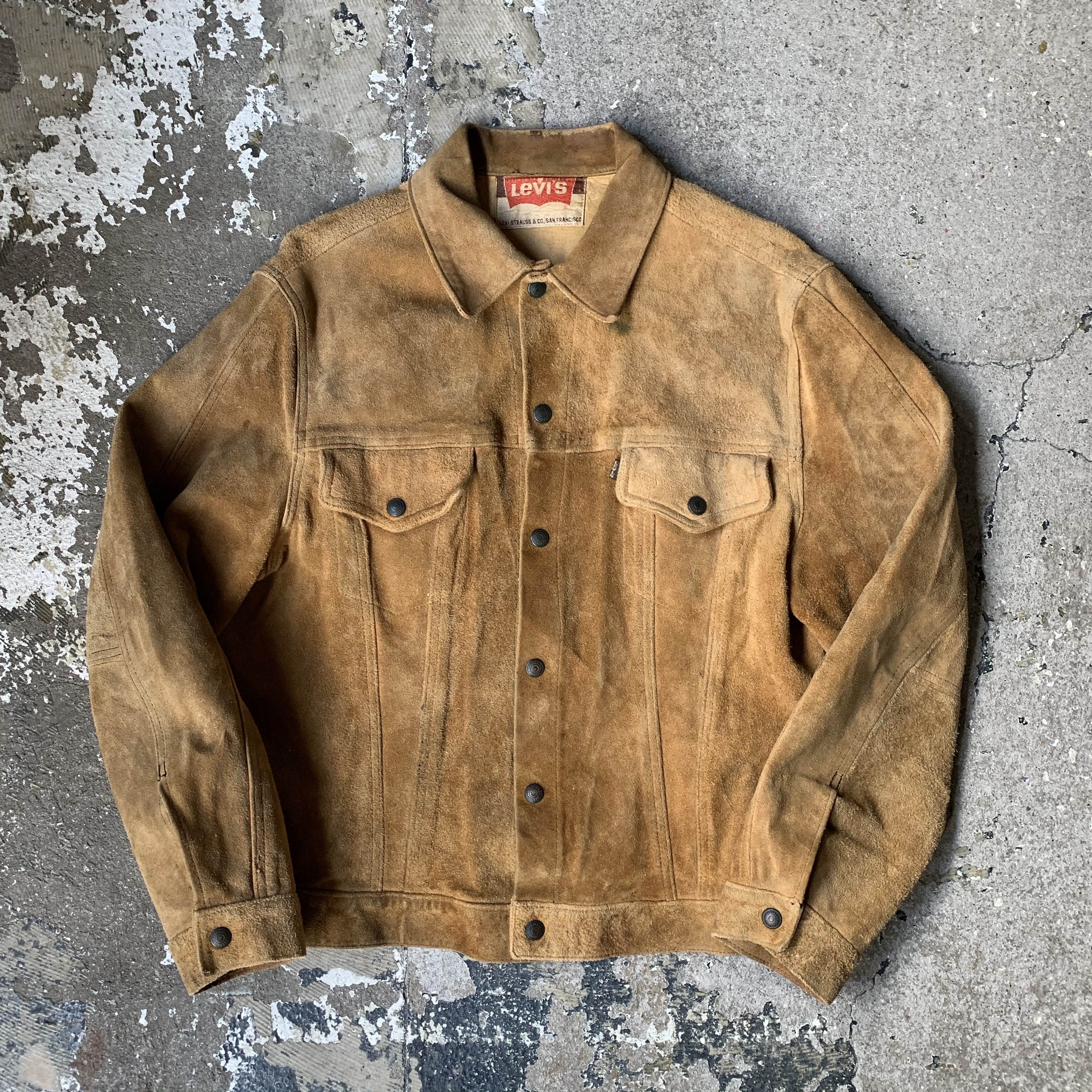 60's Levi's suede leather jacket 3rd type