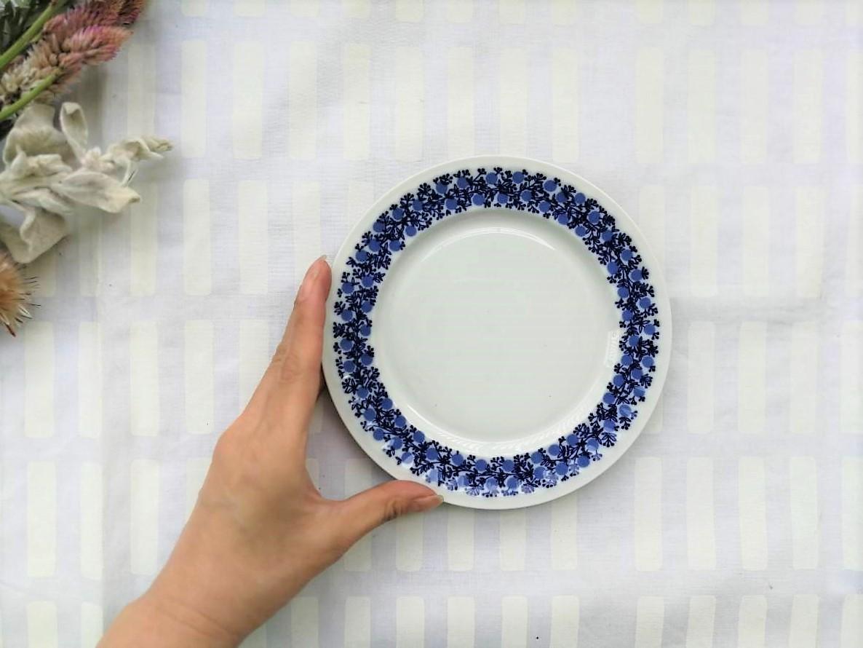 プレート / アラビア ヴィンテージ /Doria ドリア / 17.5cm (WHxBL)